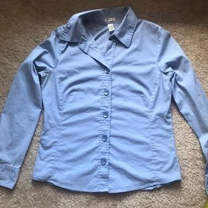 Blue stretch dress shirt